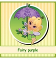 Fairy purple - cute girl closeup vector image vector image
