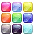 Fancy colorful glossy buttons vector image vector image