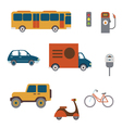 Flat City transport clip art vector image