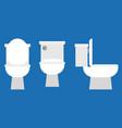 flush toilet icon vector image vector image