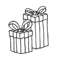 Gift box icon on a white background vector image vector image