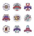 Handmade needlework badge logo vector image vector image