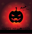 happy halloween card with pumpkin vector image vector image