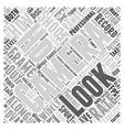 Internal Branding Word Cloud Concept vector image vector image