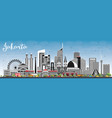 jakarta indonesia city skyline with gray vector image vector image