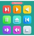 Long Shadow Icons Icons set for media player vector image