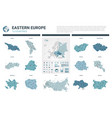 maps set high detailed 13 maps eastern europe vector image vector image