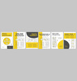 marketing strategy brochure template layout vector image vector image