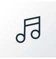 music outline symbol premium quality isolated vector image
