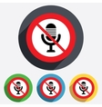 No Microphone icon Speaker symbol Live music vector image vector image