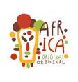 original african tribal doodle logo vector image vector image