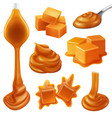 realistic caramel candies icon set vector image