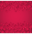 red valentine background with many flowers vector image vector image