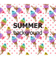 retro summer background ice creams pattern vector image