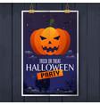 scary jack o lantern halloween pumpkin on night vector image vector image
