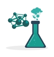 Science icon laboratory concept Flat vector image vector image