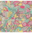 Seamless doodle floral abstract pattern vector image vector image