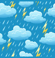 seamless pattern with thunderstorm vector image vector image