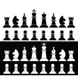 set chess pieces icons vector image vector image