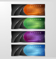 set of colored info graphic banners with different vector image vector image