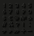 Set of decorative numbers and symbols vector image vector image