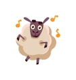 Sheep Dancing With Music vector image vector image