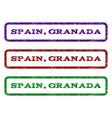 spain granada watermark stamp vector image vector image