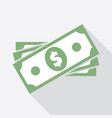 stack dollar banknotes icon vector image