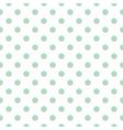 Tile pattern mint polka dots white background vector image vector image