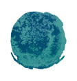 turquoise watercolor stain vector image vector image