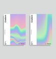 vibrant gradient holographic background vector image