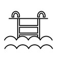 water pool line icon sign on vector image vector image