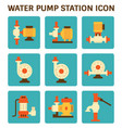 water pump station vector image