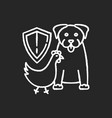 wildlife protection chalk white icon on black vector image vector image