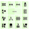 word icons vector image vector image