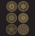 golden occult mystic spiritual esoteric vector image
