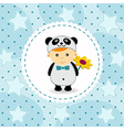 baby boy in suit of panda vector image