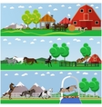 set of horse riding taming horses and vector image