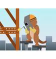cartoon beaver vector image