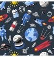 Space Colored Pattern vector image