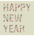 2013 happy new year xmas icons vector image vector image