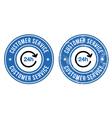 24h customer service retro badges vector image vector image