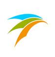 abstract arch movement symbol logo design vector image vector image