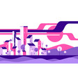 abstract geometric flat style cityscape vector image