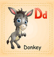 animals alphabet d is for donkey vector image vector image