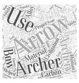archery arrows Word Cloud Concept vector image vector image