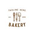 bakery line vintage logo design inspiration vector image vector image