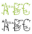 bamboo letters set vector mesh vector image