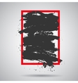 black grunge splash in red frame Modern vector image vector image