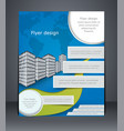 blue business flyer or brochure design template vector image vector image